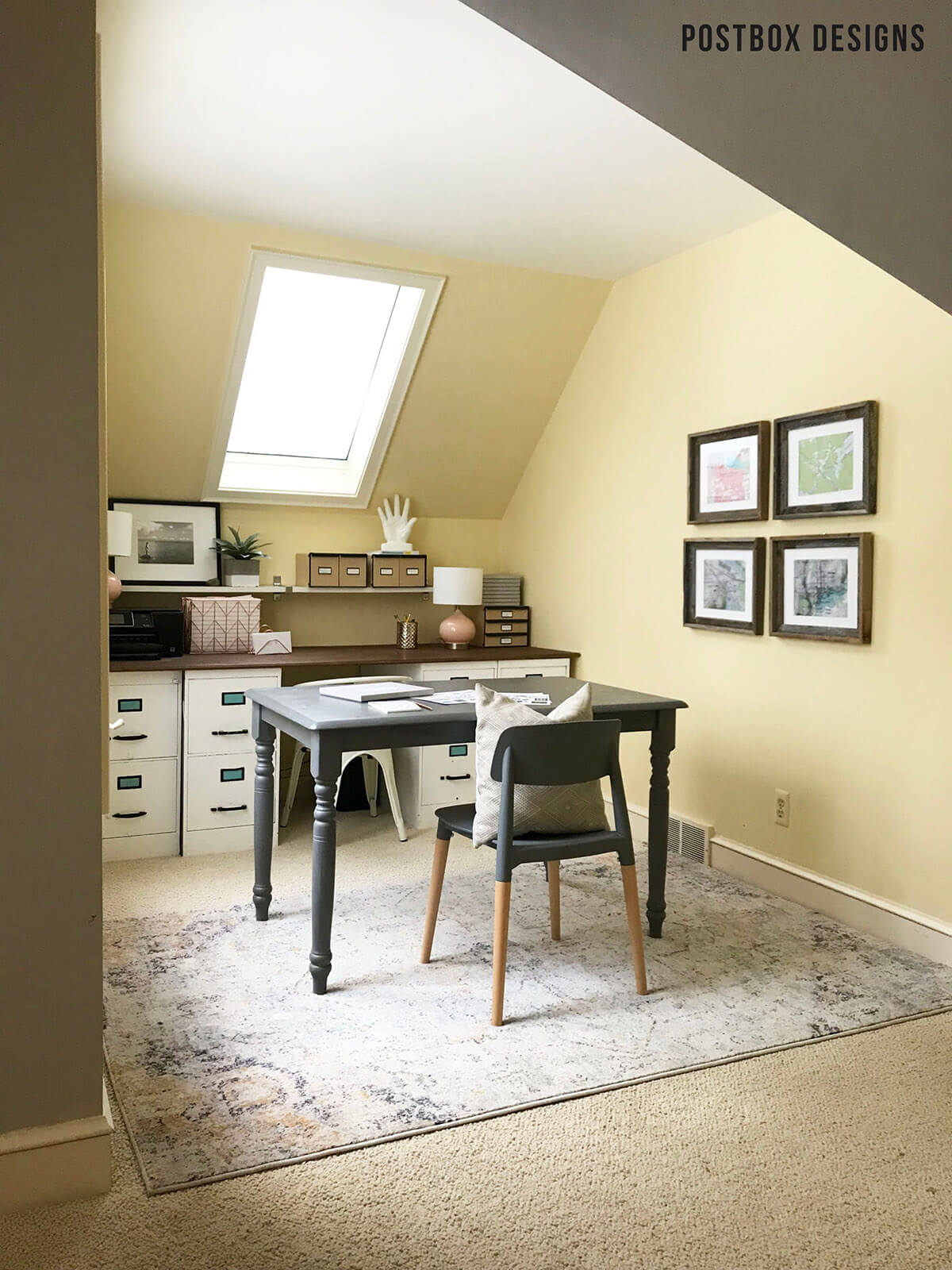 Gear Up for Work with a Great Gray Small Farmhouse Table Turned Desk