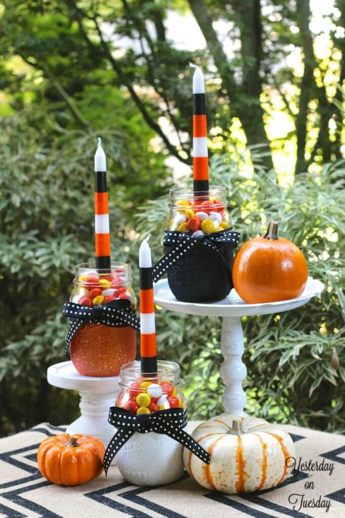 Elegant Candy Jar Candleholders Homebnc