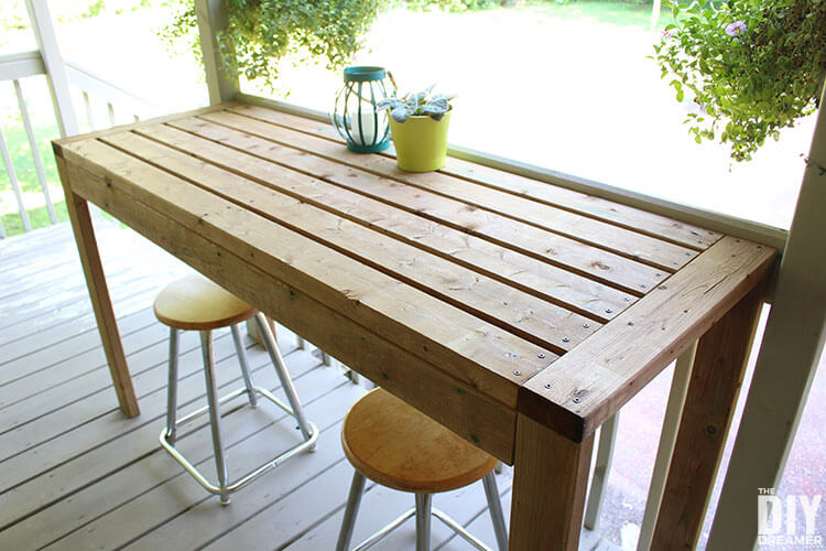 Simple, Sturdy Outdoor Bar or Countertop