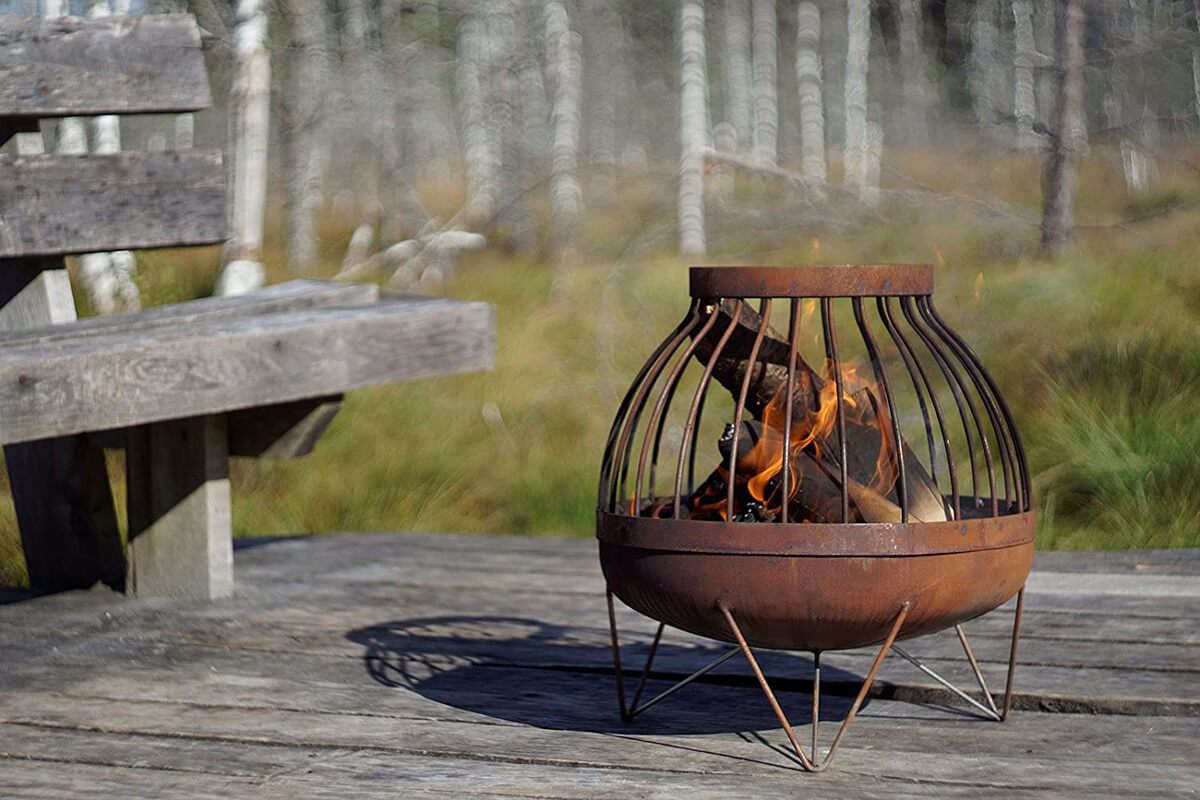Solid Steel Sanded Fire Pit