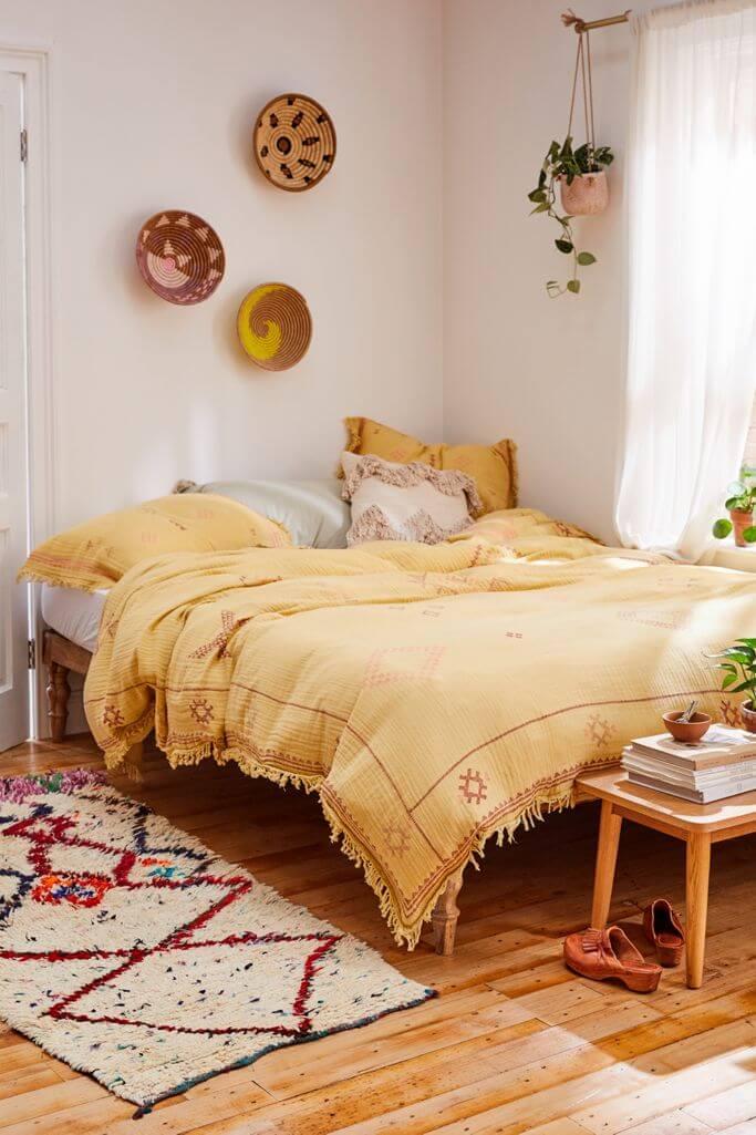 Golden Boho Cotton Gauze Duvet Cover