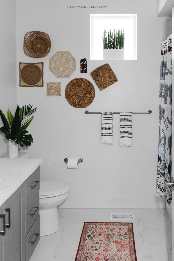 Picture this Textile Wall in your New Bathroom