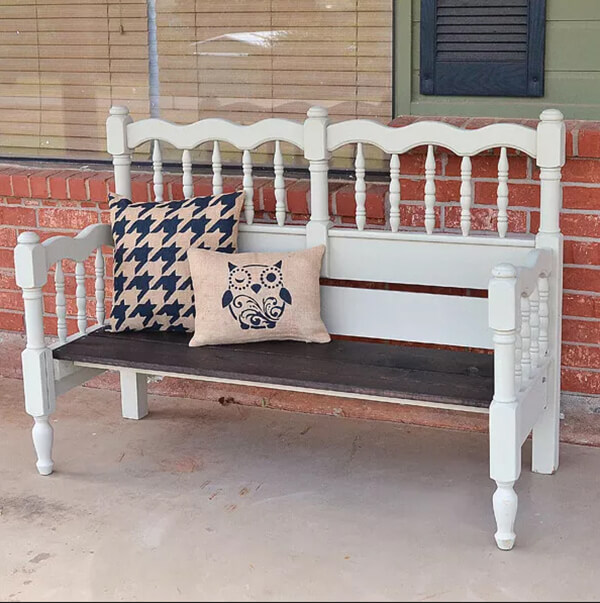 Ornate Front Porch Bench