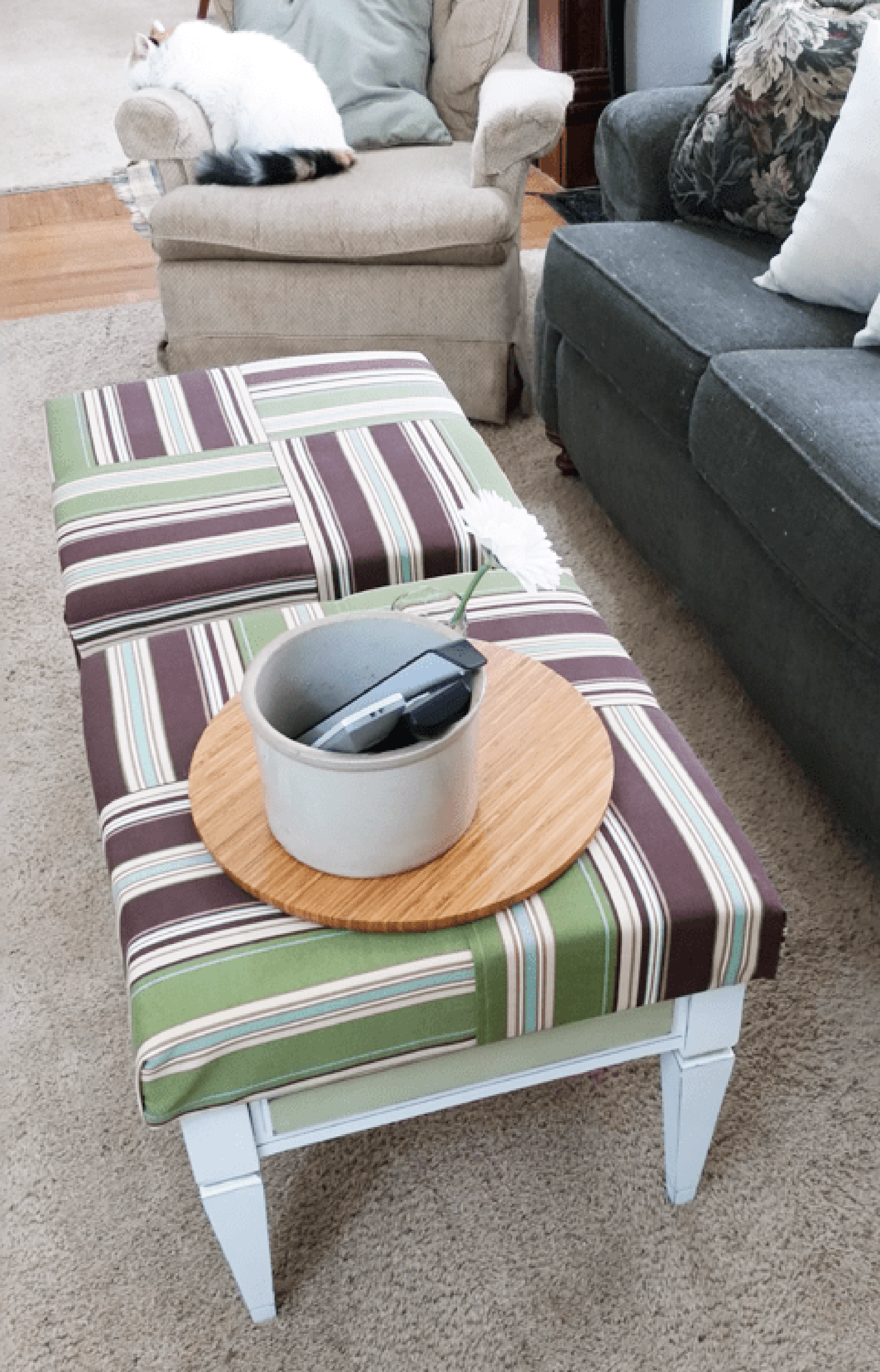 Ottoman Doubling as Coffee Table