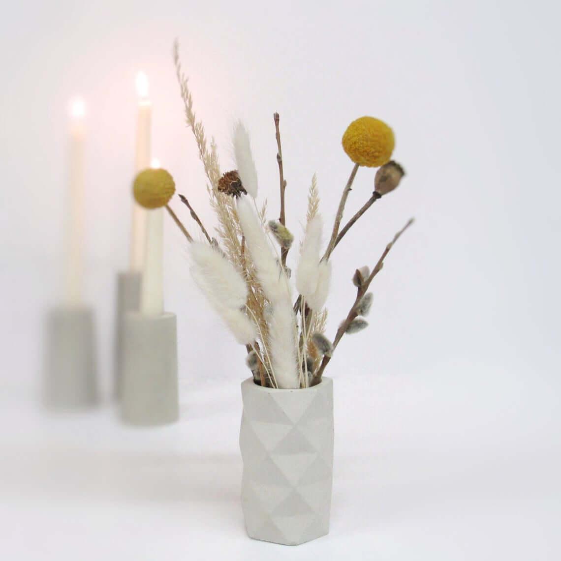 Cement Bud Vase or Desk Organizer