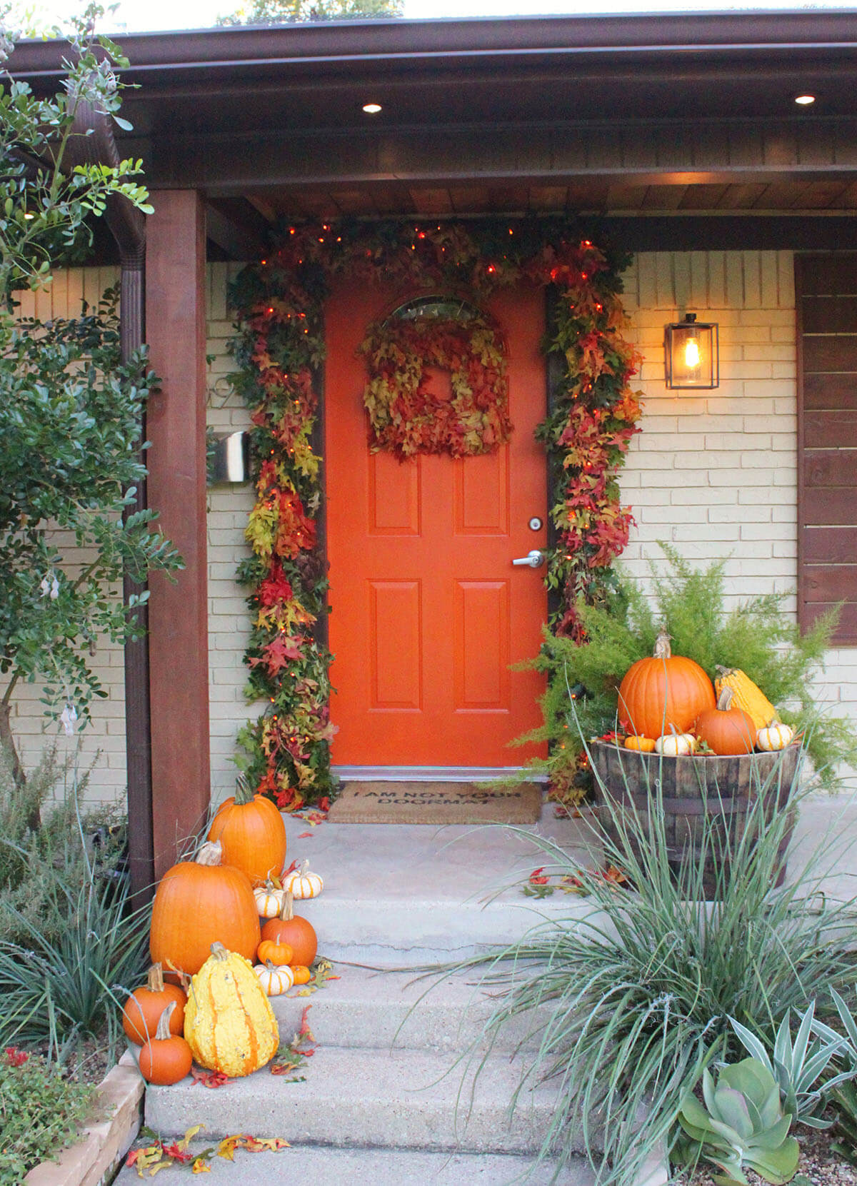 Full and Thick Fall Leaves Door Garland