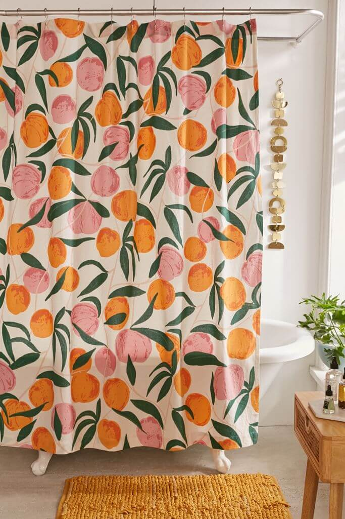 Just Peachy Keen Shower Curtain