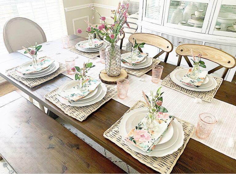 Watercolor Faux Flower Table Décor