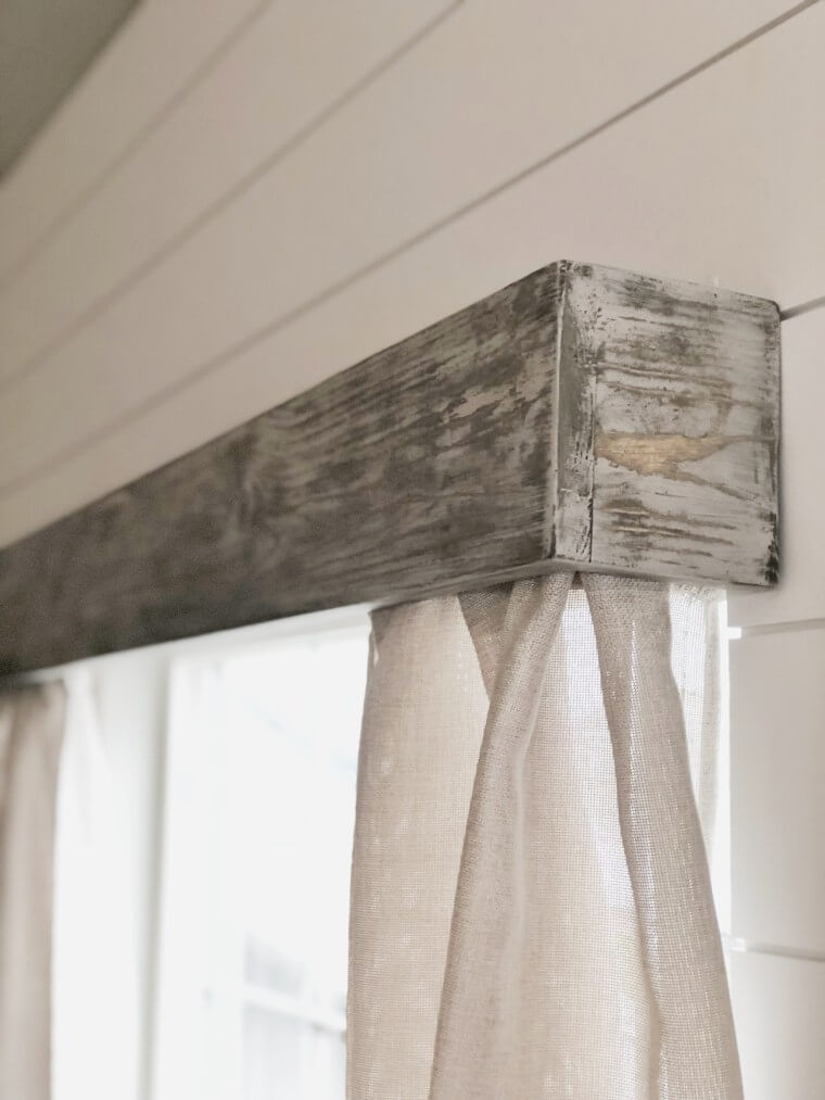 Weathered Wood Curtain Valance