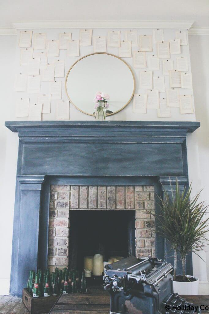 No More Writer's Block Vintage Fireplace
