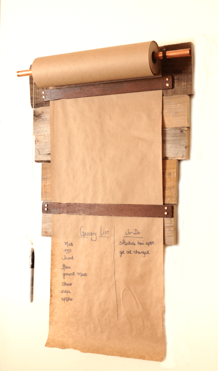 Rustic and Functional Paper Dispenser