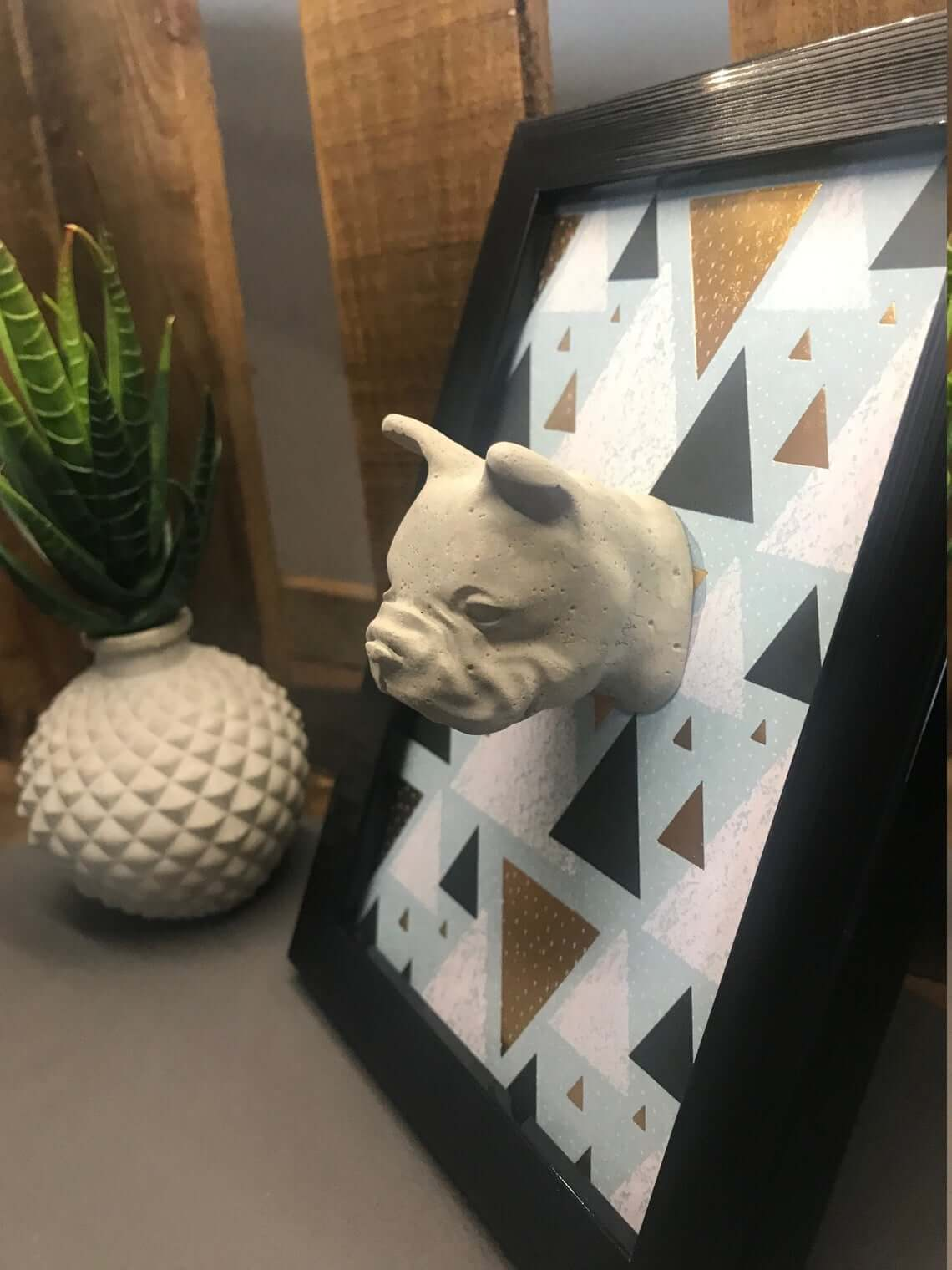 Stylish Three-Dimensional French Bulldog Picture