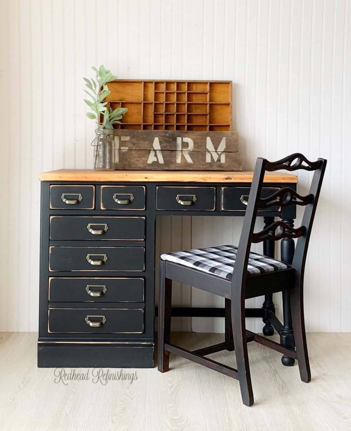 Old Fashioned Card Catalog Inspired Writer's Desk