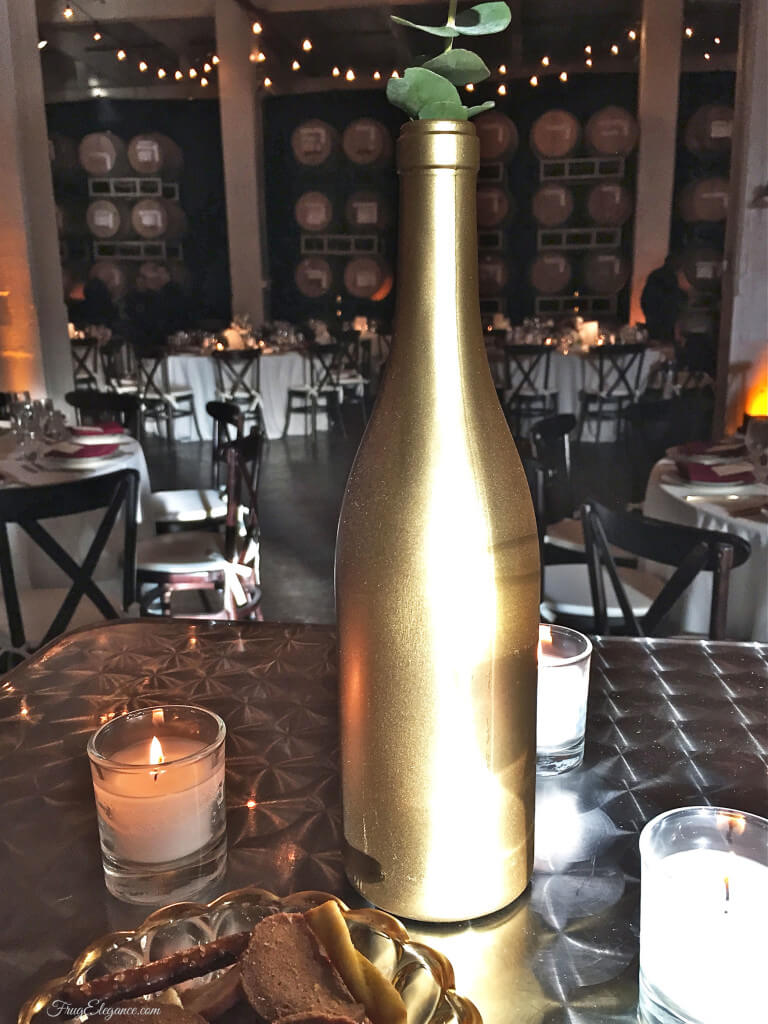 Gold Spray Painted Bottle DIY Project