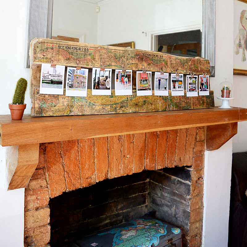 Mantle Piece Travel Collage Display Board