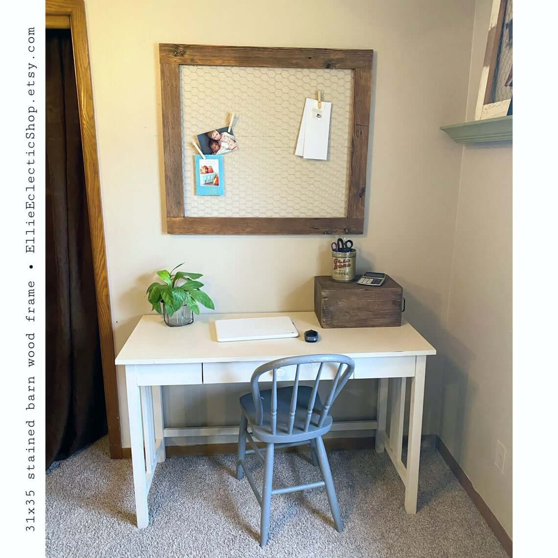 Simple and Classic Small White Writer's Desk