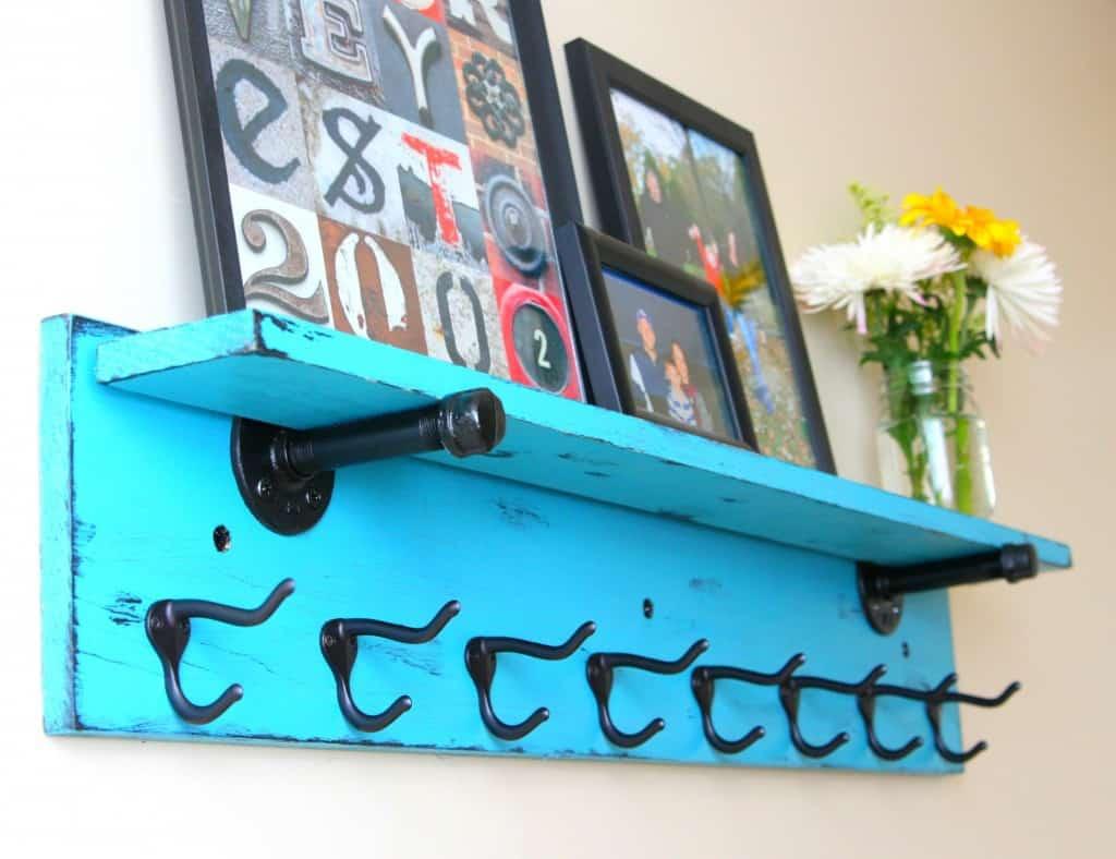 Entryway or MudRoom Shelf and Coat Rack
