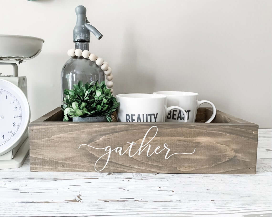But First, Coffee Wooden Kitchen Tray