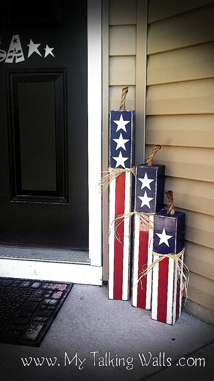 Patriotic Firecrackers Stair Step Trio