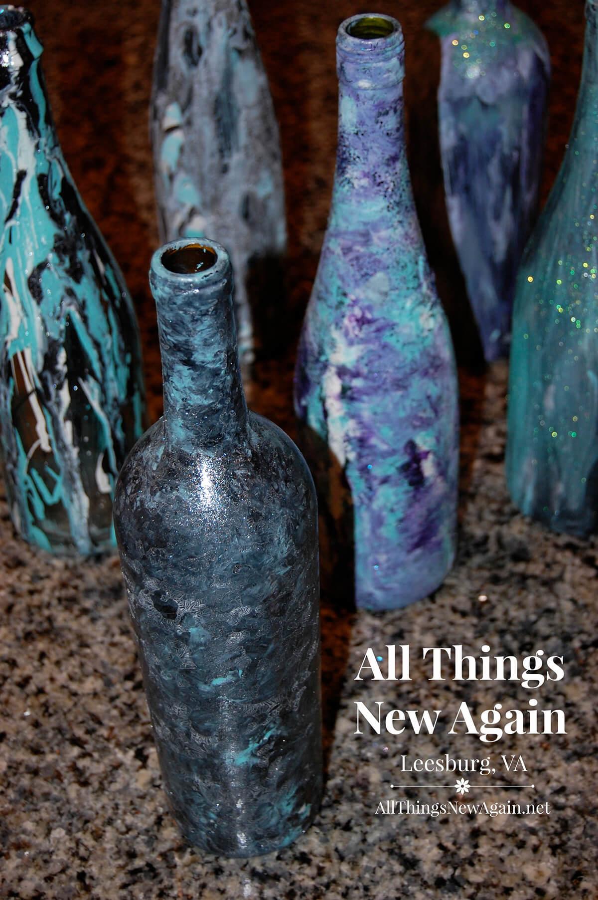 Handmade Painted Bottles Various Techniques