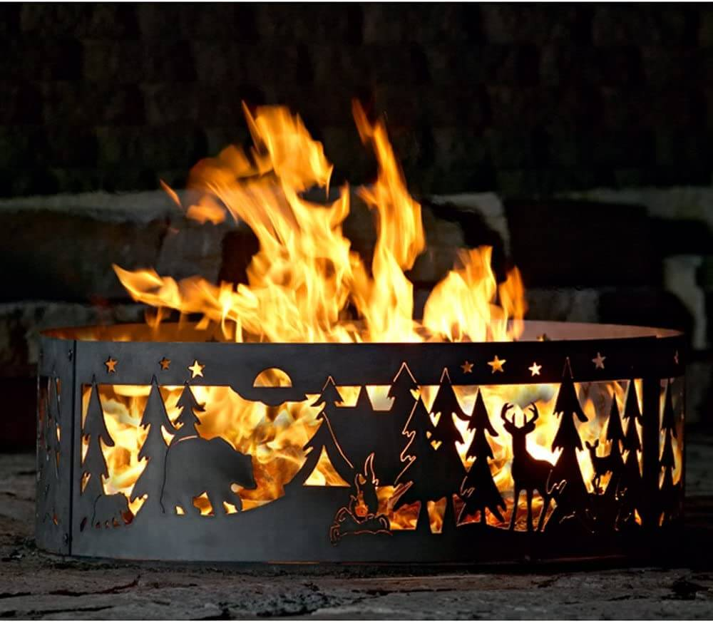 Beautiful Northwoods Metal Fire Ring Pit