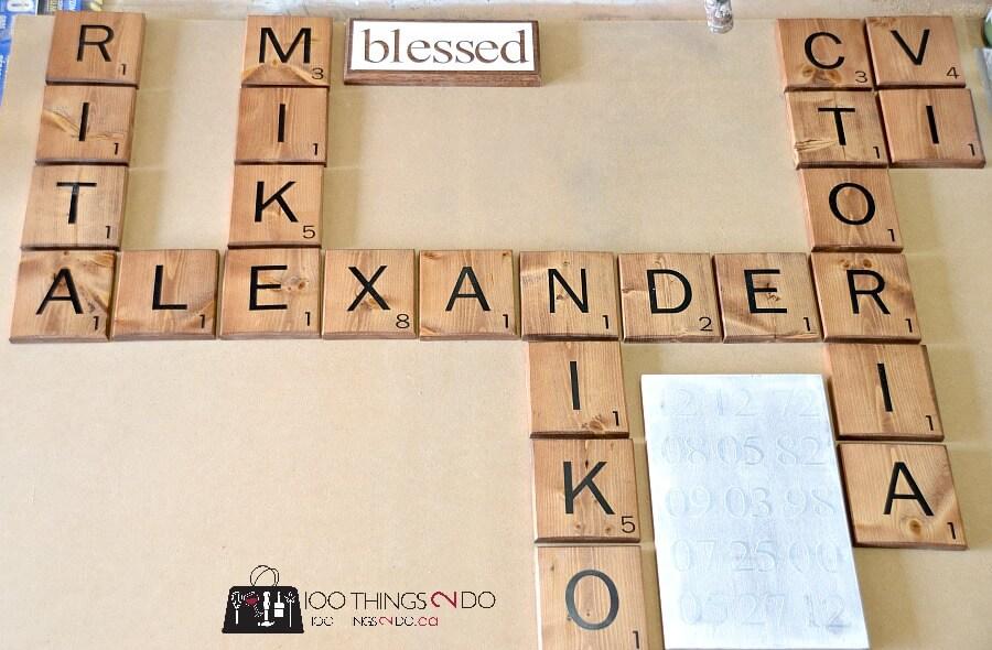 Family Names with Scrabble Word Plaques