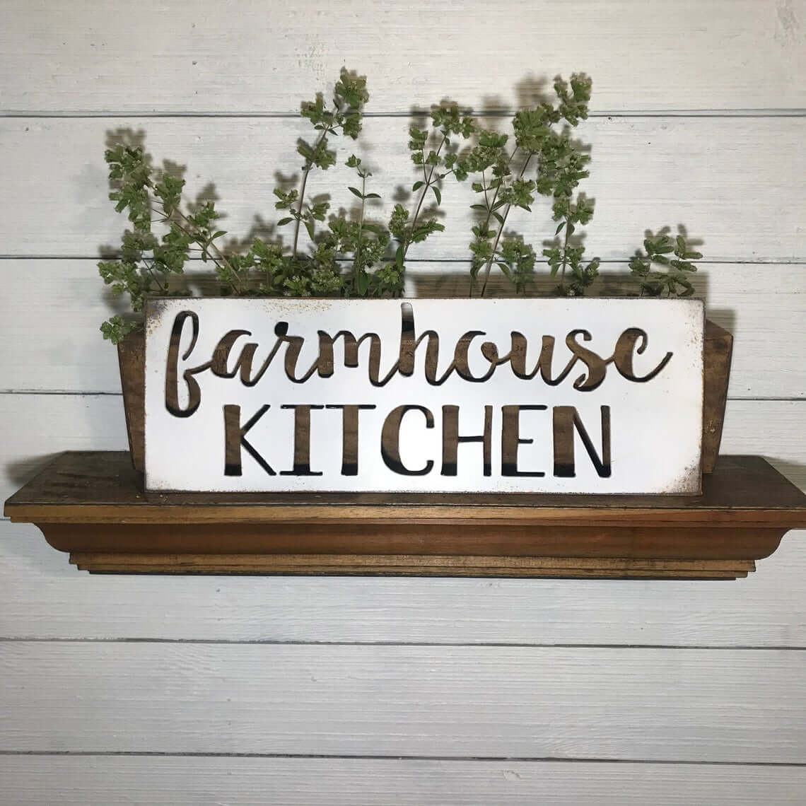 Rustic Metal Sign with Farmhouse Kitchen Cutout
