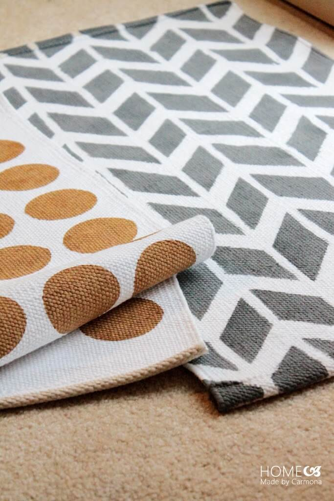 Modern and Neutral Stenciled Accent Rugs