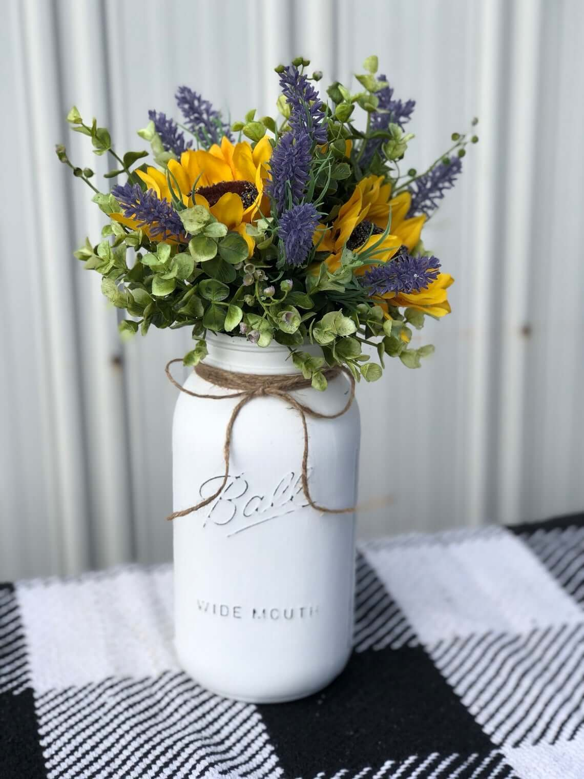 Personalized Handmade Sunflower Summer Centerpiece