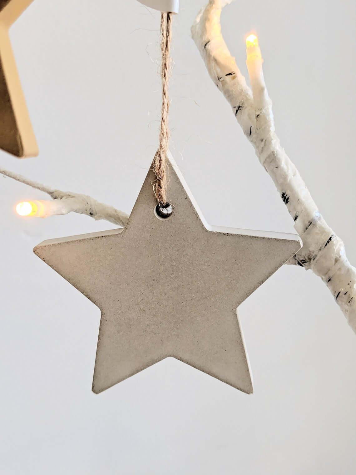 Concrete Minimalist Star Ornament Decoration