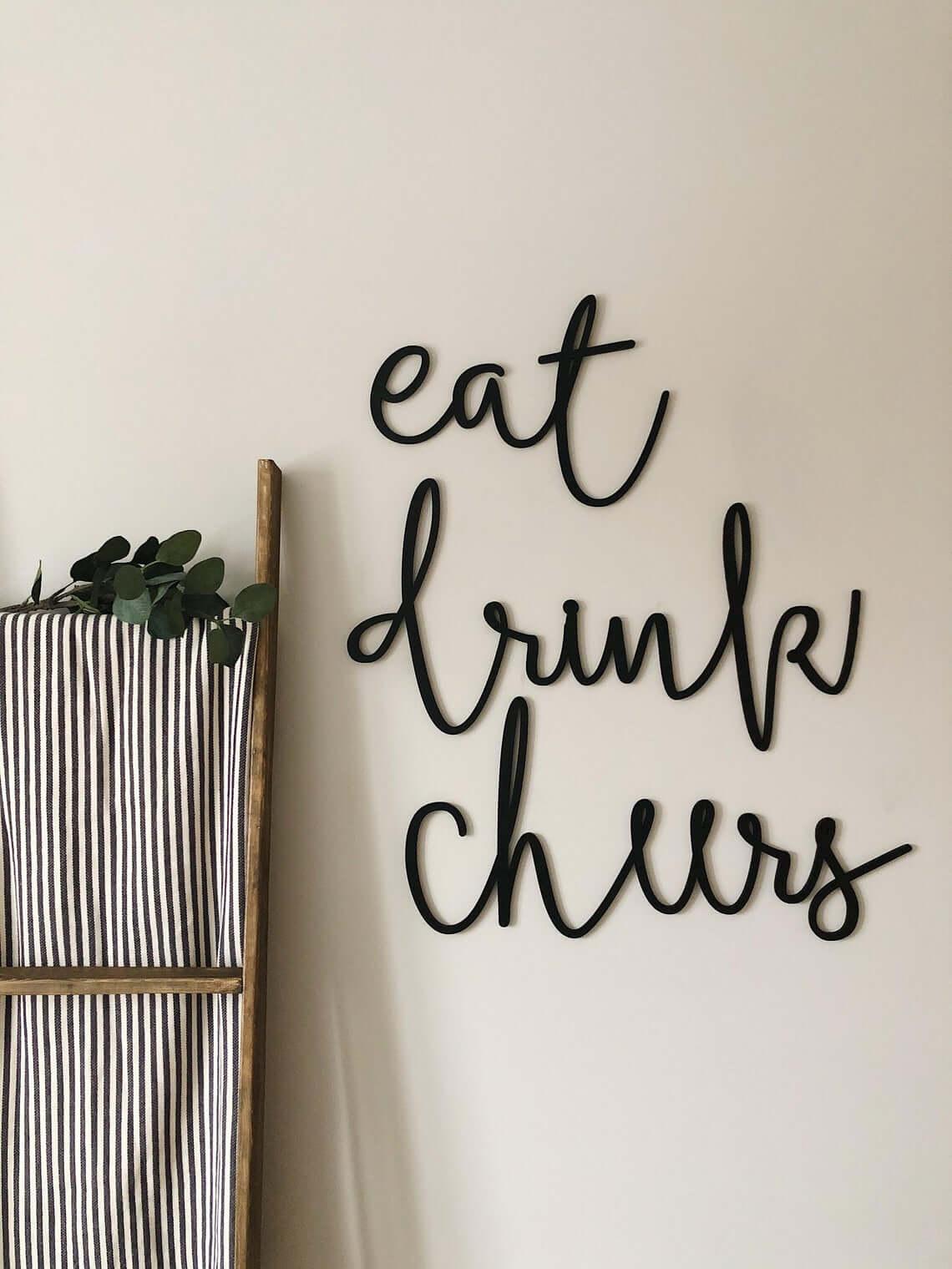 Kitchen Words Wall Decor Set