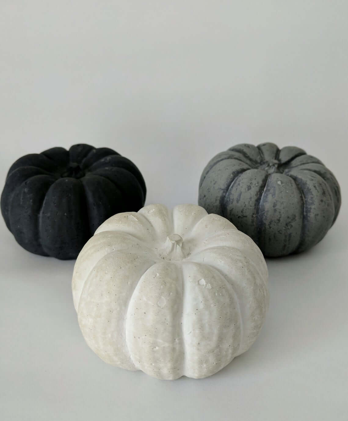 Concrete Pumpkin Fall Decor Set