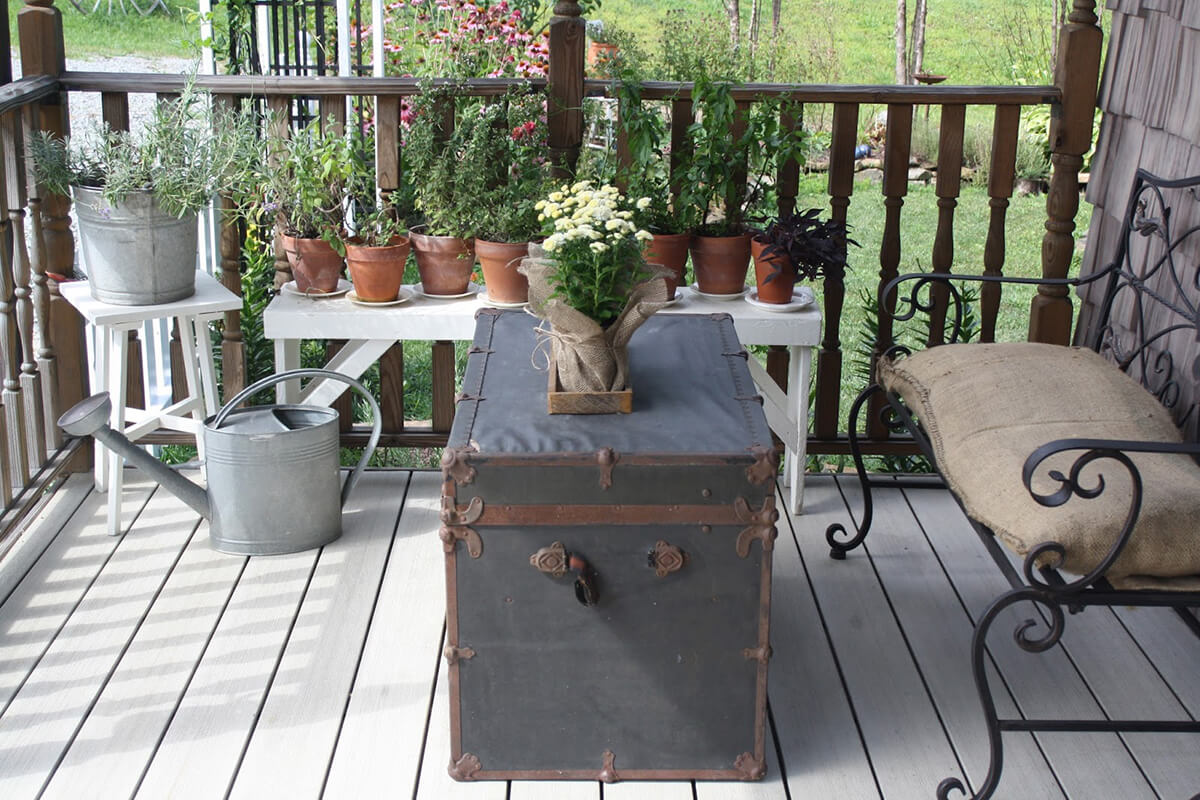 Old Treasure Chest Comes Alive in Your Outdoor Seating Area