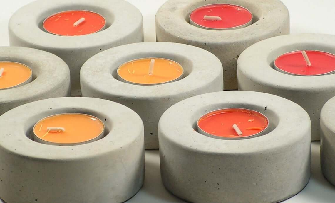 Concrete Candle Holder for Tea Lights