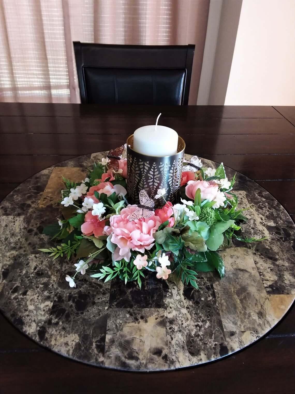 Ring Summer Floral Arrangement Centerpiece