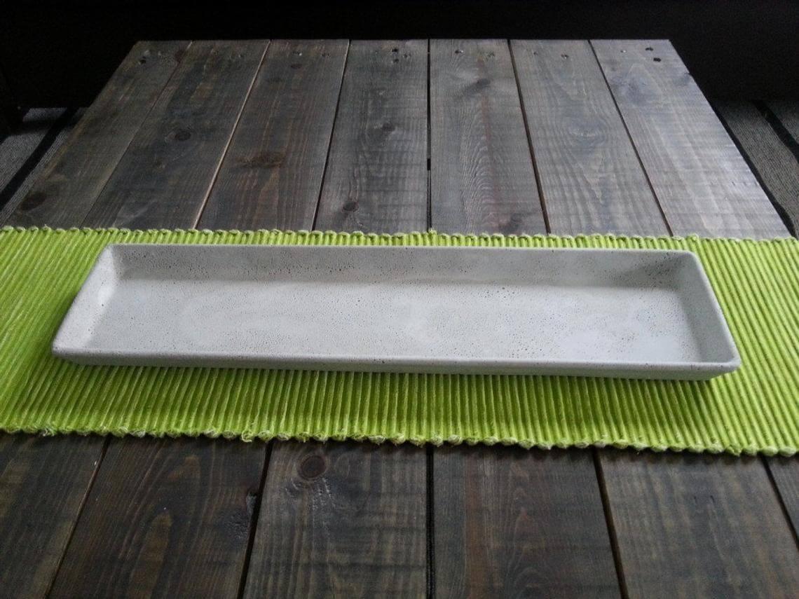 Rectangular Decorative Tray in Concrete