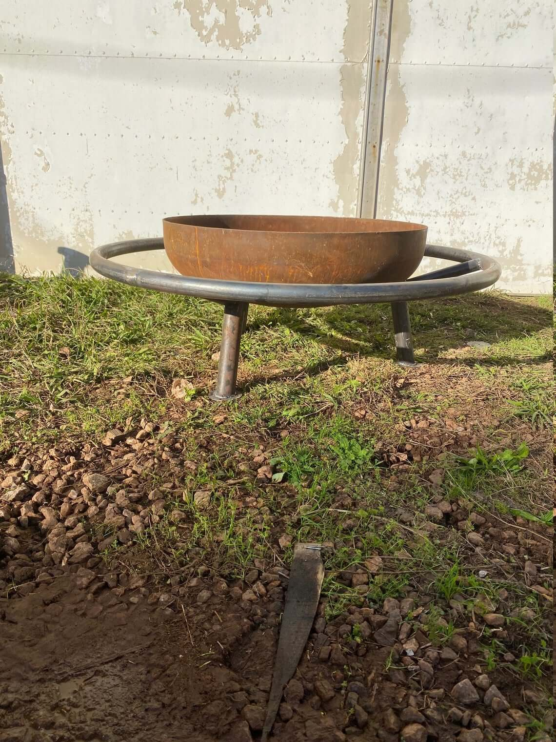 Cool Fire Pit Bowl with Footrest