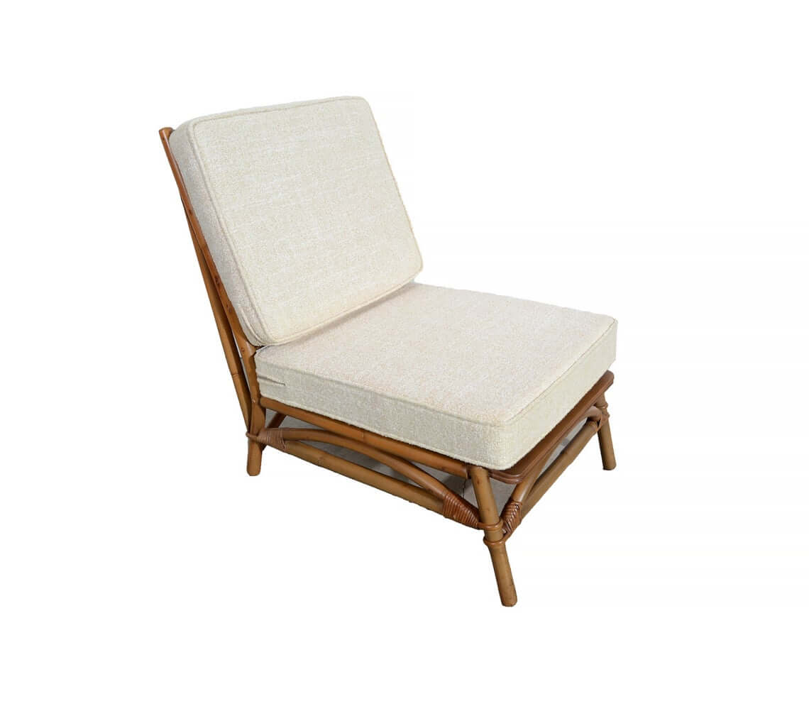 Ficks Reed Slipper Bamboo and Rattan Chair