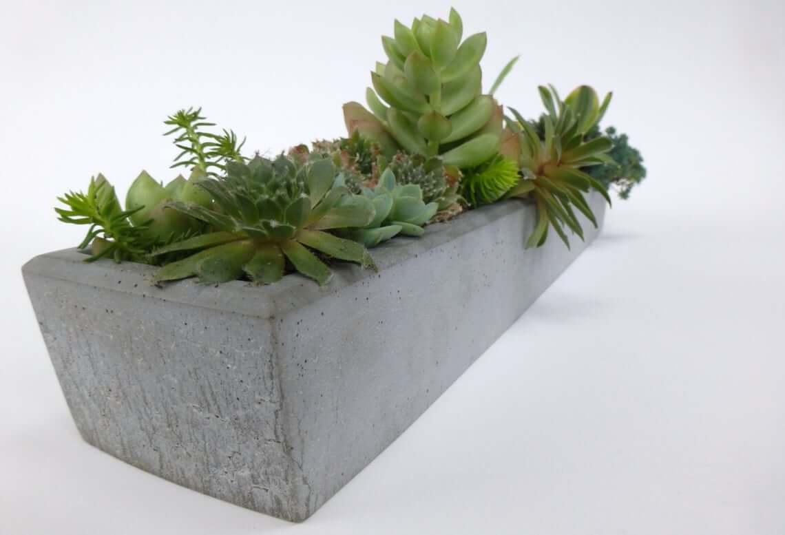 Elegant Simple Concrete Window Sill Planter