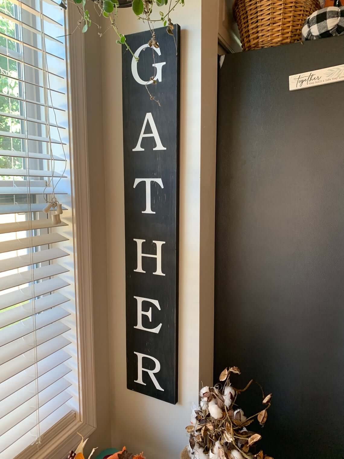 Classic Black Gather Sign for the Home