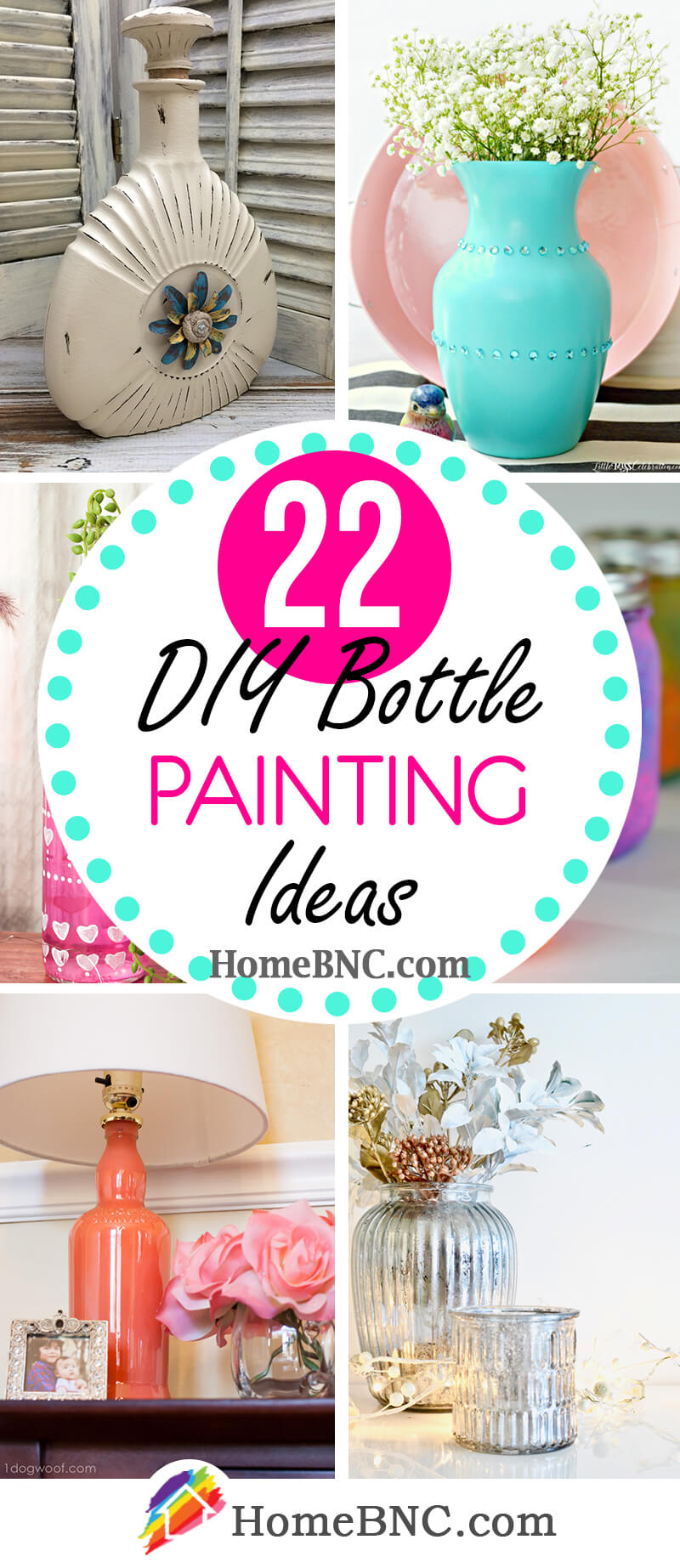 22 Best Diy Bottle Painting Ideas That Are Pure Upcycling Fun In 2021