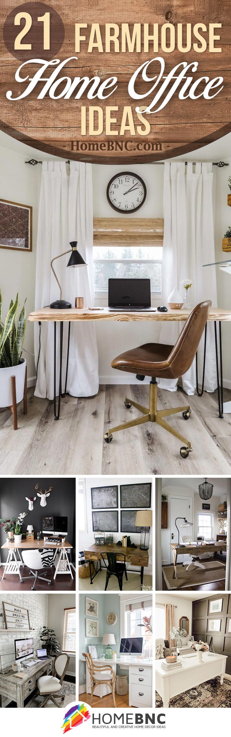 Best Farmhouse Home Office Ideas