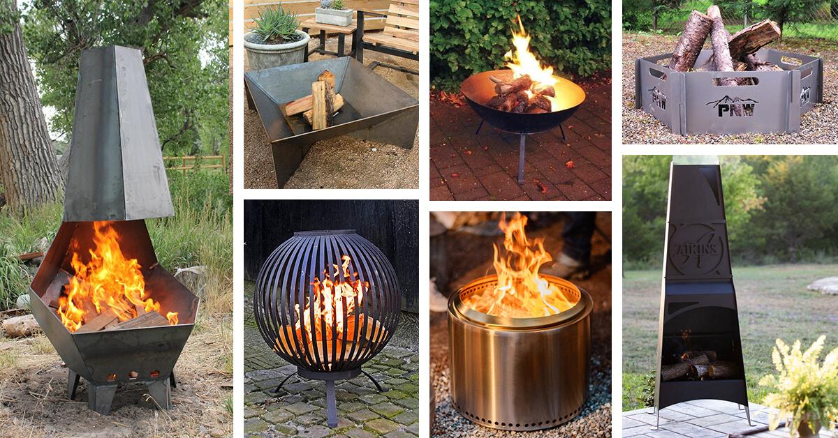29 Best Metal Fire Pit Ideas to Modernize your Backyard in ... on Best Fire Pit Design id=67550