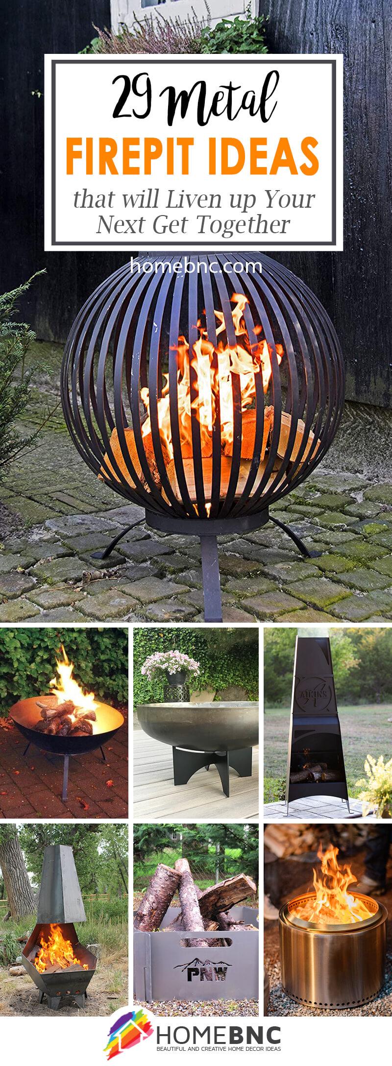 29 Best Metal Fire Pit Ideas to Modernize your Backyard in ... on Best Fire Pit Design id=77517