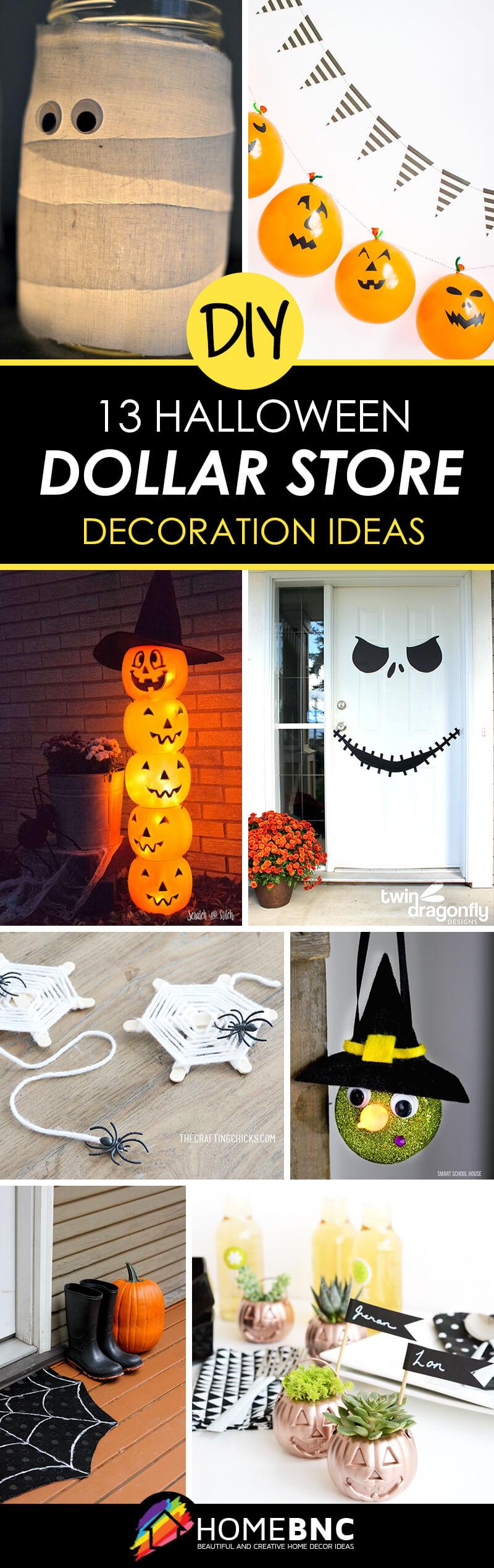 13 Best DIY Dollar Store Halloween Decoration Ideas and