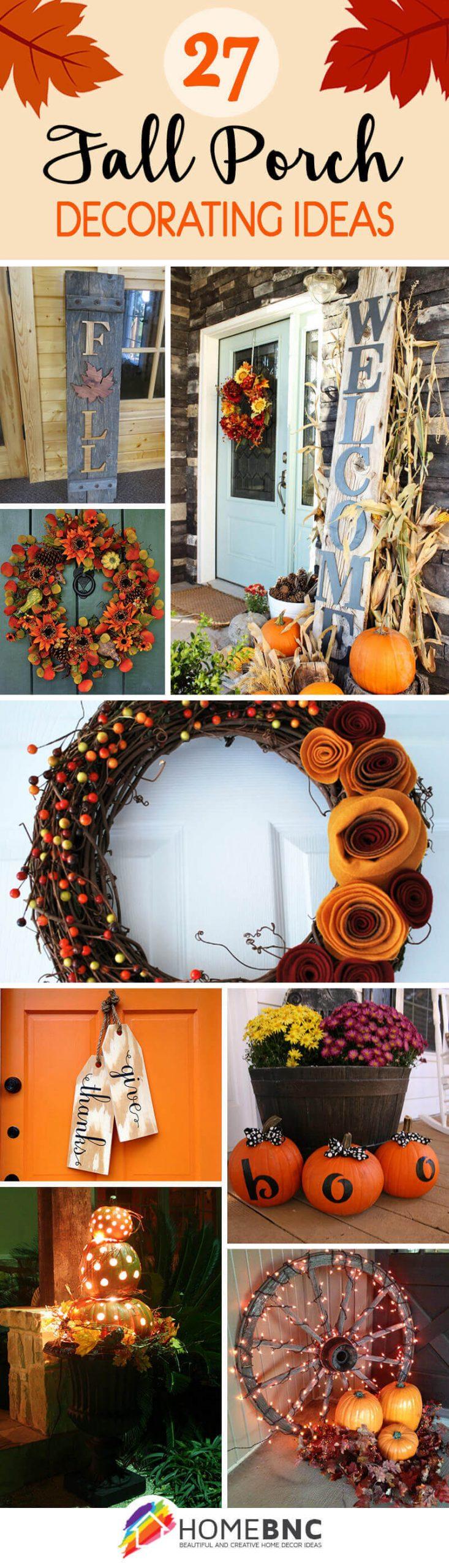 Fall Porch Decoration Ideas