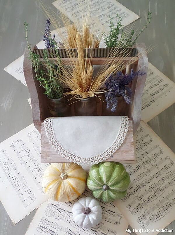 Great Grains and Wooden Fall Centerpiece