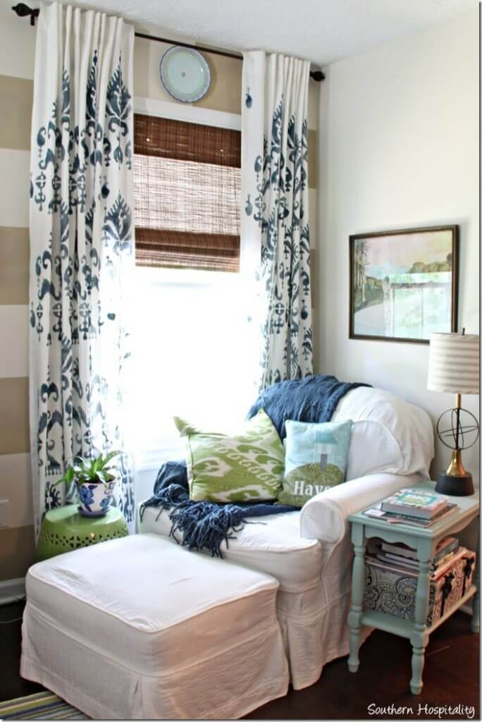 Stunning Yet Simple Stenciled Drapes