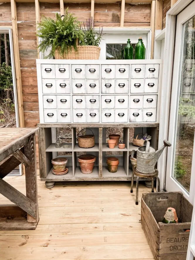 Faux Rural Apothecary Cabinet Storage