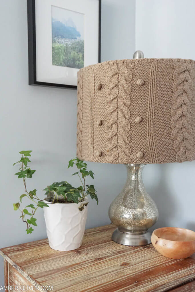 Upcycled and Upholstered Accent Lamp Project